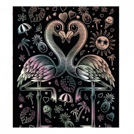 Set creativ Holograma,Flamingo,25x20cm,Sequin Art,8ani+