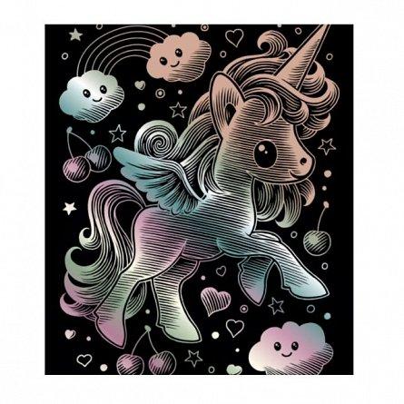 Set creativ Holograma,Unicorn,25x20cm,Sequin Art,8ani+