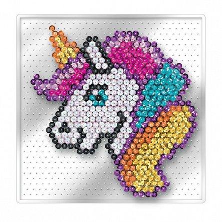Set creativ Sequin Easy,Unicorn,17x17cm,Sequin Art,4ani+
