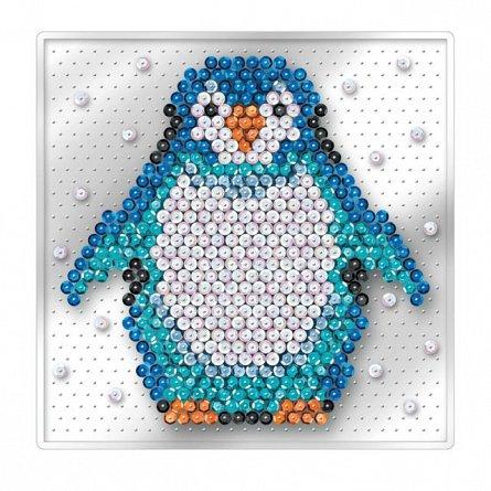 Set creativ Sequin Easy,Pinguin,17x17cm,Sequin Art,4ani+