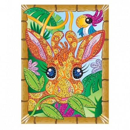 Set creativ Smoogles,Girafa Chomp,34x25cm,Sequin Art,6ani+