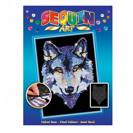 Set creativ Original,Lup,34x25cm,Sequin Art,8ani+