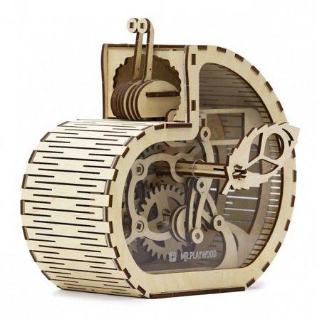 Puzzle mecanic,Casa de bani,lemn,8ani+