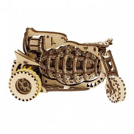 Puzzle mecanic,Motocicleta stelara,lemn,8ani+