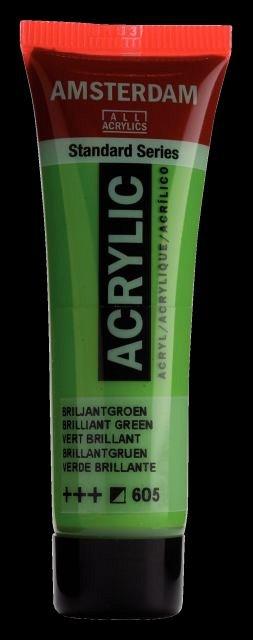 Tub culori acrilice,Amsterdam,20ml,brilliant green