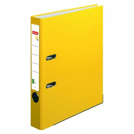 Biblioraft A4, 50 mm, Herlitz, FSC One File, galben