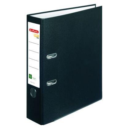 Biblioraft A4, 80 mm, Herlitz, FSC One File, negru