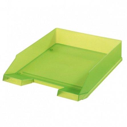 Tavita pentru documente, Herlitz, Clasic, verde translucid
