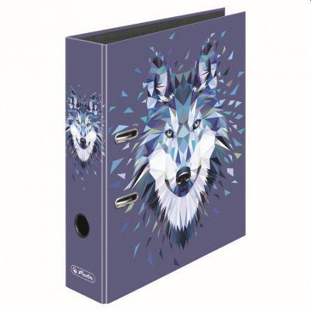 Biblioraft A4, 80 mm, Herlitz,  Wild Animals Wolf