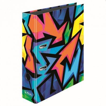 Biblioraft A4, 80 mm, Herlitz,  Neon Art