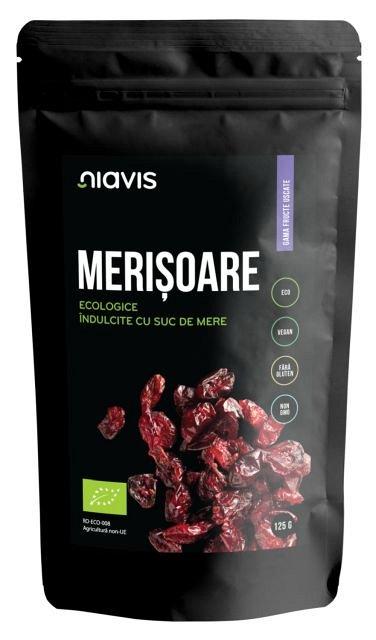 Merisoare Ecologice/BIO, indulcite cu Suc de Mere, 125g�