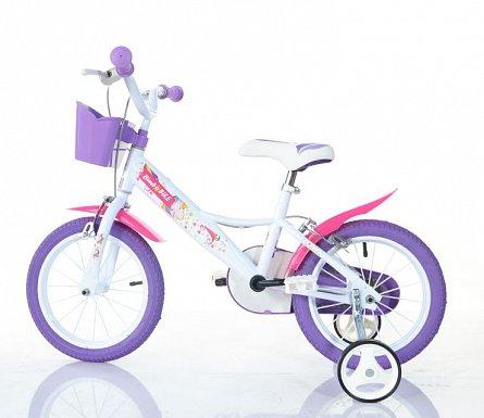 Bicicleta fete, 14 inch, Unicorn MTB, multicolor, 3-4 ani, 1 viteza