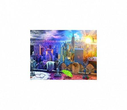 Puzzle 4 anotimpuri New York, 1500 piese,Ravensburger