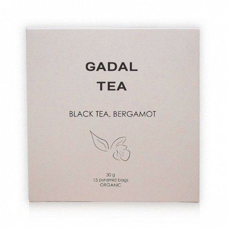 Ceai negru, bergamota, 15 piramide