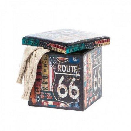 Taburet Design, Route 66, dimensiune 38 x 38 cm