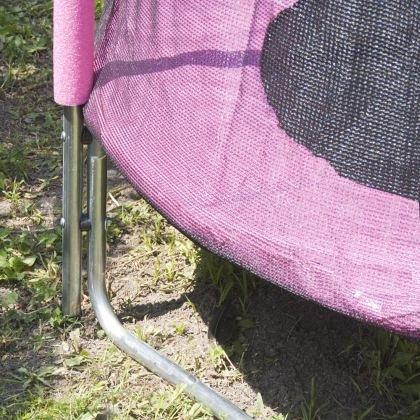 Trambulina si plasa de siguranta, Sportmann, 140cm, roz