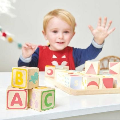 Joc ABC lemn Le Toy Van,30 piese,12luni+