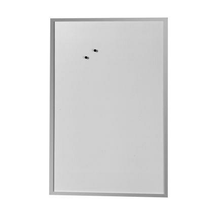 Tabla magnetica Rocada, 80 x 60 mm, alba, rama lemn argintie