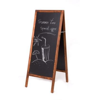 Panou de informare Rocada, 70 x 50 cm, de podea, pentru scris cu creta