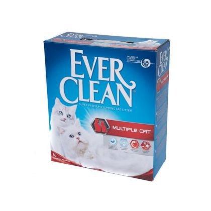 Nisip litiera, Ever Clean Multiple Cat, pentru casele cu mai multe pisici, 6L