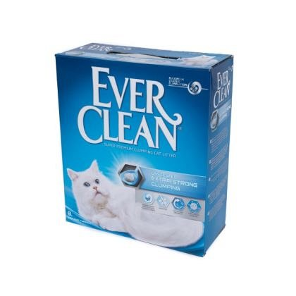 Nisip litiera, Ever Clean Extra Strong, Clumping Fara Parfum, 10L
