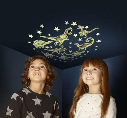 Set reflectorizant - Dinozauri si stele, Brainstorm, 3 ani+