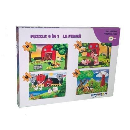 Puzzle La ferma, 4 in 1, Happyschool
