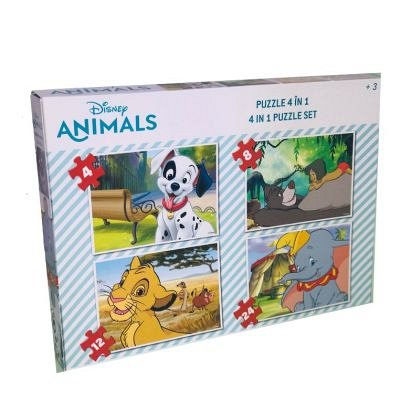 Puzzle Disney Animals, 4 in 1, animale