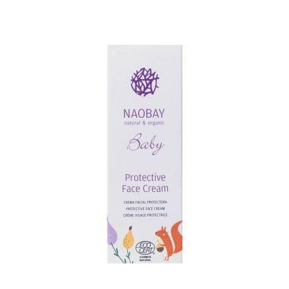 Crema de fata protectoare BIO pentru copii cu extracte organice de galbenele si musetel, Naobay, 100