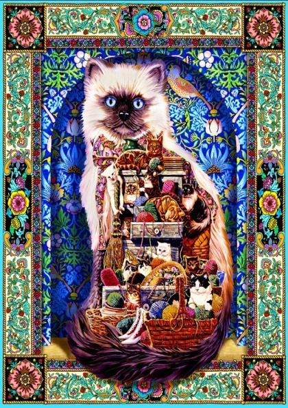 Puzzle Bluebird - Cats Galore, 1500 piese (70154)