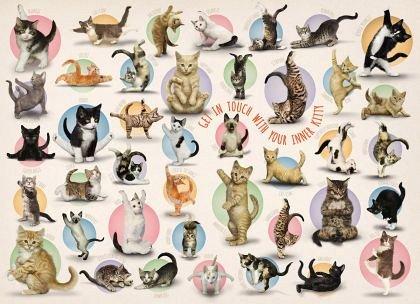 Puzzle Eurographics - Yoga Kittens, 300 piese XXL (6500-0991)