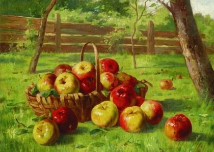 Puzzle Gold Puzzle - Karl Vikas: Apple Harvest, 500 piese