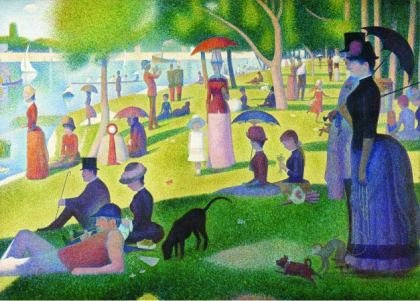 Puzzle Gold Puzzle - Georges Seurat: A Sunday Afternoon on the Island of La Grande Jatte, 1.000 pies