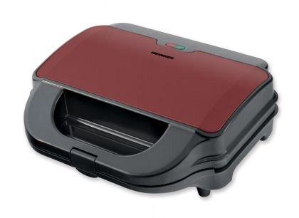 Sandwich maker Heinner SM-2H900BKS, 900 W, placi detasabile anti-adezive XL, placi grill si waffles,