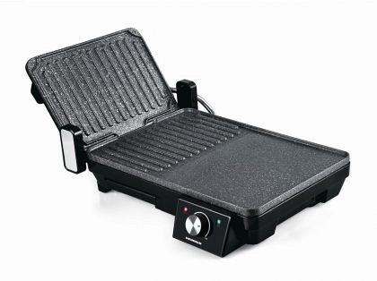 Grill electric cu 2 placi Heinner HEG-F20002P, 2000 W, placi din aluminiu turnat cu acoperire non-st