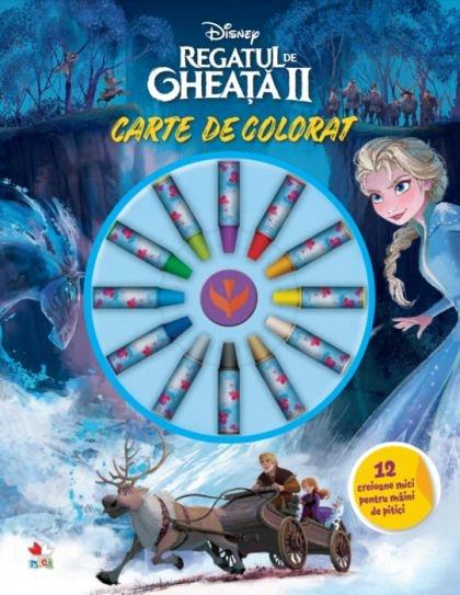 DISNEY. REGATUL DE GHEATA II. CARTE DE COLORAT. 12 CREIOANE MICI PENTRU MAINI DE PITICI