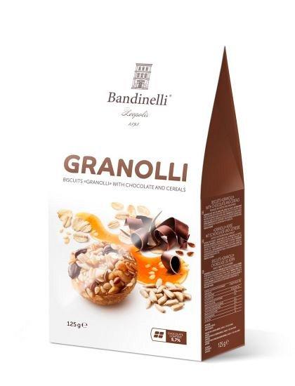 Biscuiti Granolli  cu ciocolata si cereale, 125g