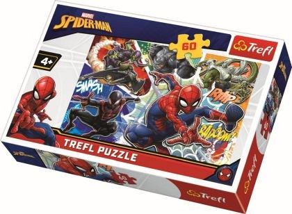 Puzzle Trefl - Curajosul Spider-Man, 60 piese