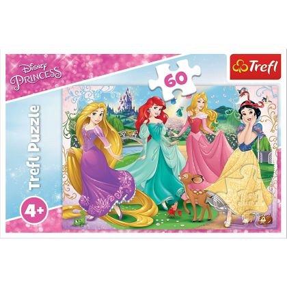 Puzzle Trefl - Frumoasele printese Disney, 60 piese