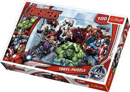 Puzzle Trefl - Incepe atacul Marvel, 100 piese
