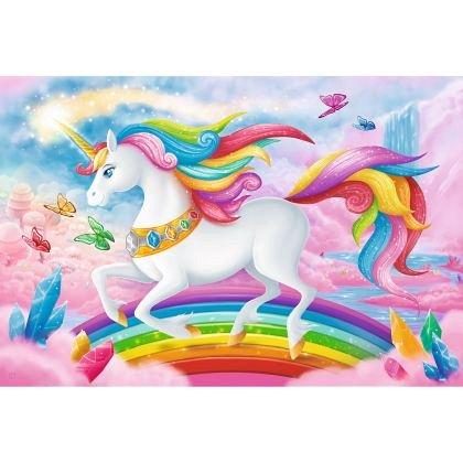 Puzzle Trefl - Lumea de cristal a unicornilor, 100 piese