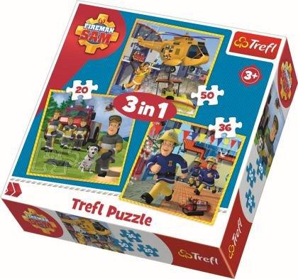 Puzzle Trefl 3 in 1 - Pompierul Sam