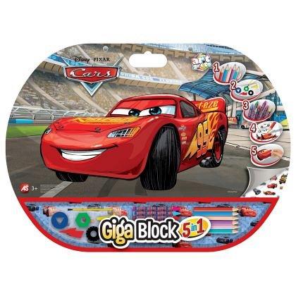 Set pentru desen 5 in 1 As Art - Giga Block, Cars