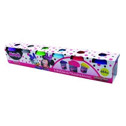 Set plastilina AS Art - 6 borcanase, Minnie Mouse