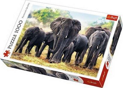 Puzzle Trefl - Elefanti africani, 1000 piese