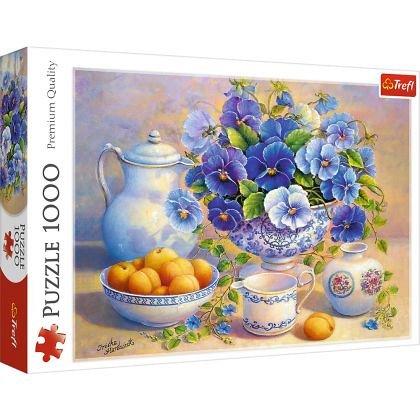 Puzzle Trefl - Buchet albastru, 1000 piese