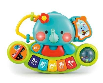 Jucarie interactiva Hola Toys - Elefant pianina muzicala