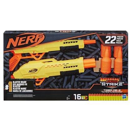 Nerf - Blaster, Alpha Strike - Set 2 blastere Tiger DB-2 cu tinte