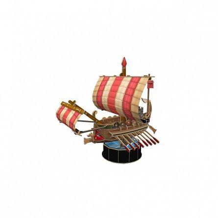 Puzzle 3D CubicFun - Nava Romana de razboi, 85 piese