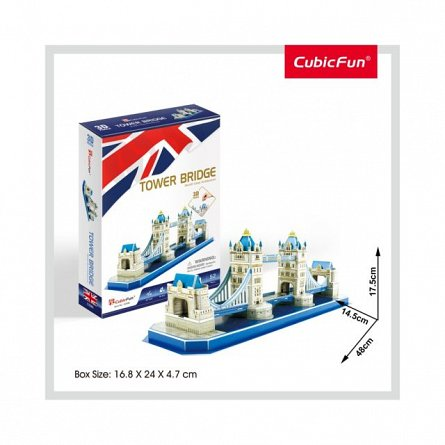 Puzzle 3D CubicFun - Tower Bridge, 52 piese